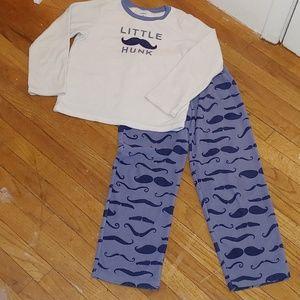 "Carter's ""Little Hunk"" fleece pajamas size 8"
